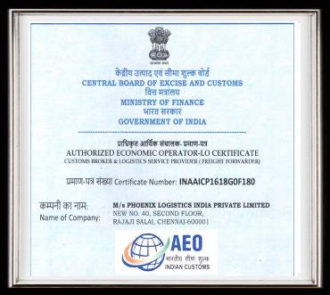 Phoenix Logistics Pvt Ltd Certifications